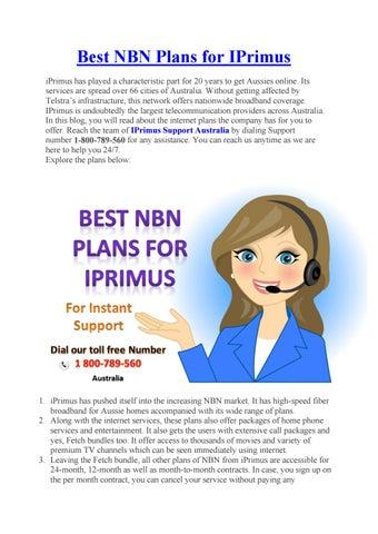Best NBN Plans for IPrimus by villagefordbig - issuu