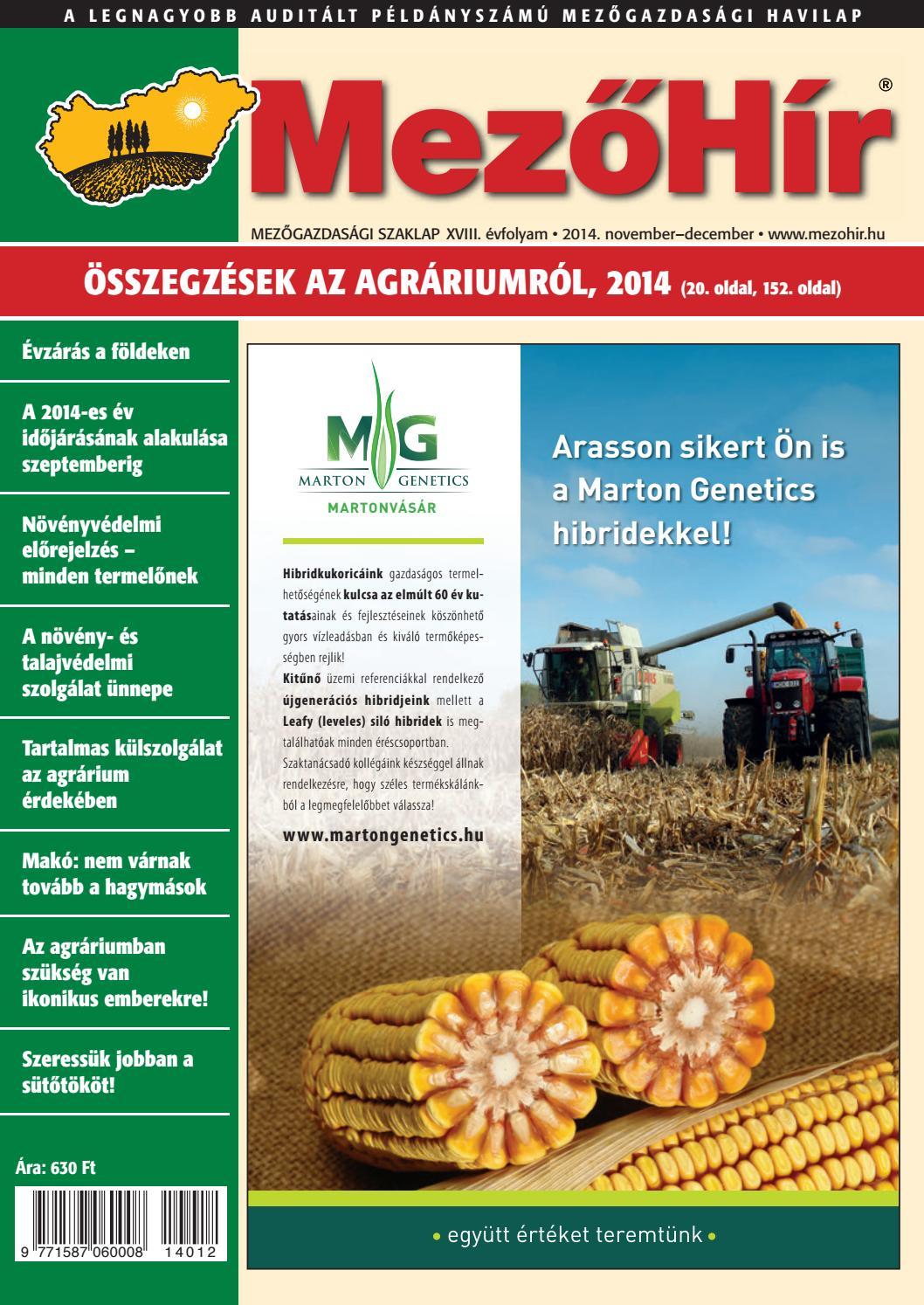 d99e42713e Mezőhír 2014. November by Horizont Média Kft. - issuu