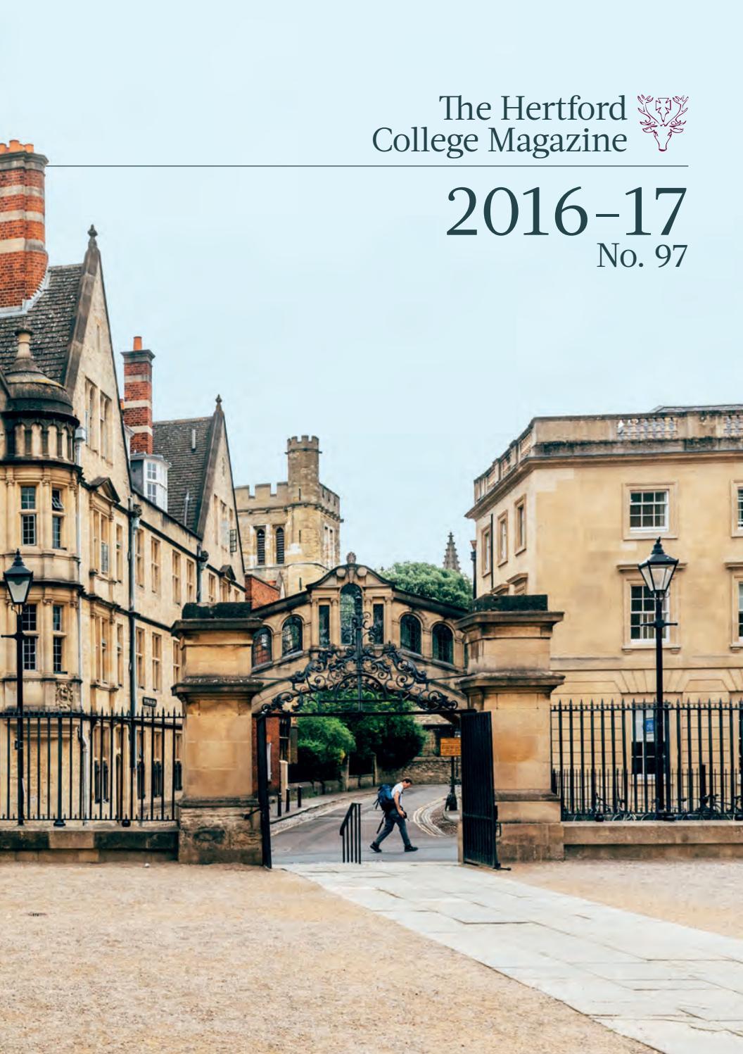 aca738606 Hertford College Magazine 2016-17 by Hertford College - issuu