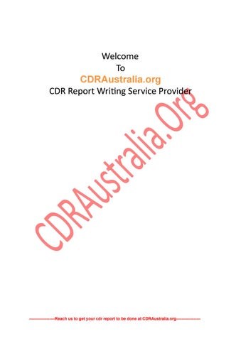 Sample CDR Report for Electrical Engineer PDF by Andrew