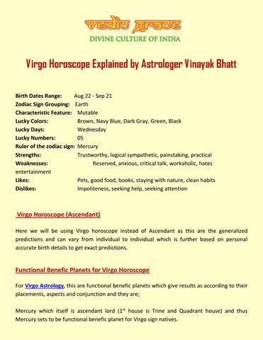 Virgo Horoscope Explained by Astrologer Vinayak Bhatt by