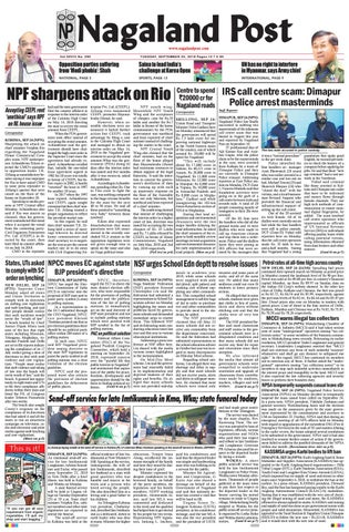 September 25, 2018 by Nagaland Post - issuu