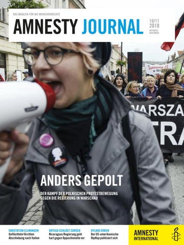 Amnesty Journal Ausgabe Oktobernovember 2018 By Amnesty