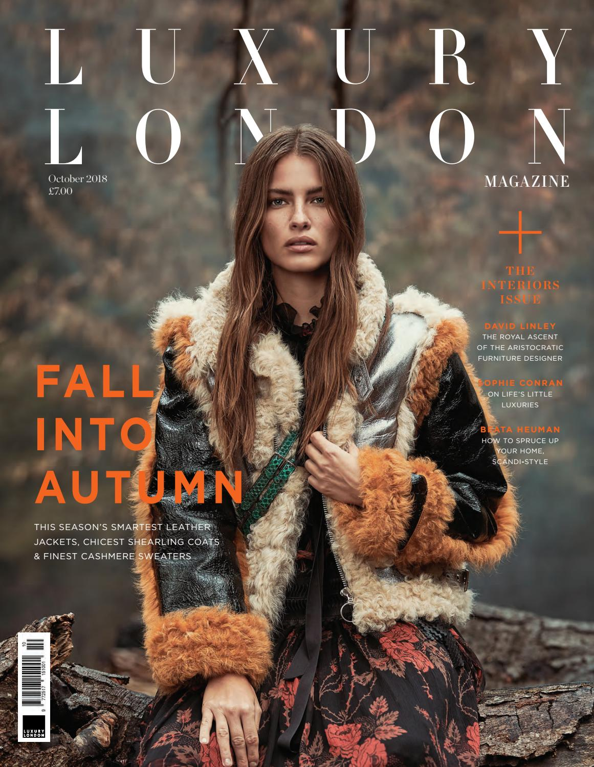 d985293b98e68 Luxury London Magazine October 2018 by Luxury London Media - issuu