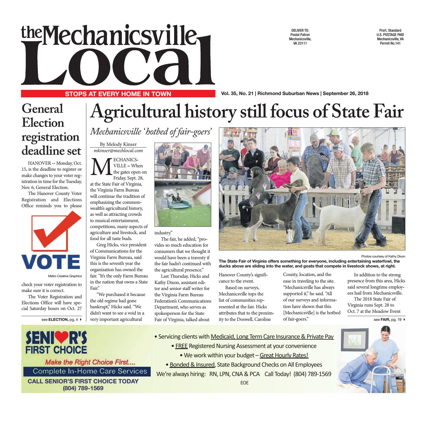 f9aa024049 09 26 18 by The Mechanicsville Local - issuu