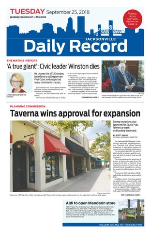 Jacksonville Daily Record 9/25/18 by Daily Record & Observer