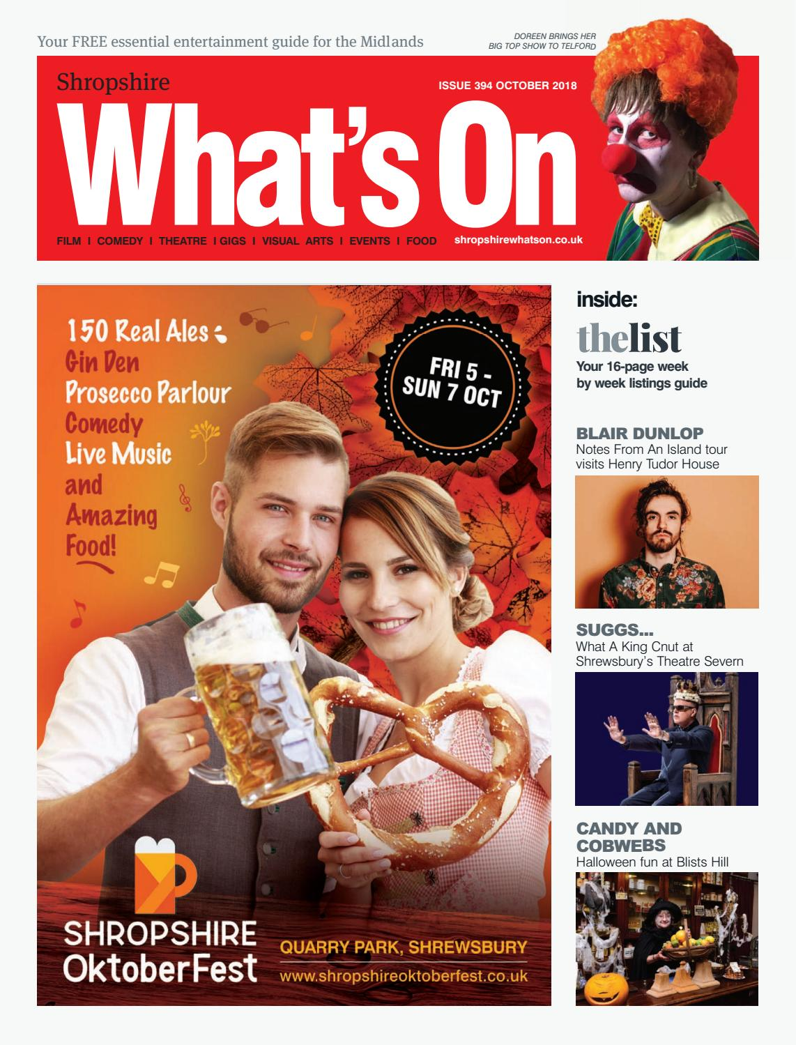 Shropshire What's On October 2018 by What's On Magazine for