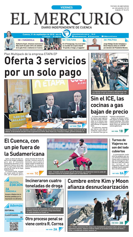 hemeroteca-21-09-2018 by Diario El Mercurio Cuenca - issuu 291a6ab8174