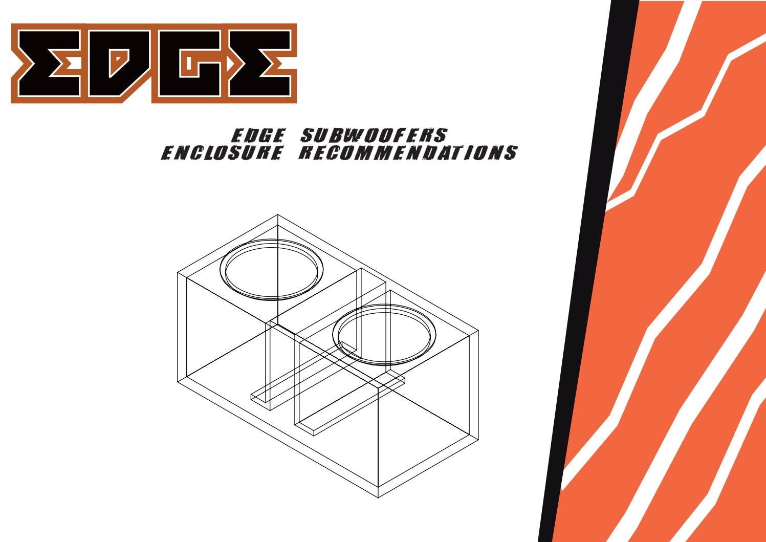 Edge Subwoofer Enclosure Recommended Sizes by VIBE AUDIO - issuu