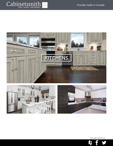 Cabinetsmith Kitchens Brochure By CanSave Barrie   Issuu