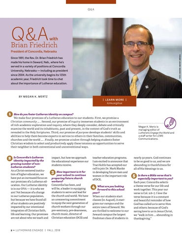 Page 4 of Q& A with Brian Friedrich
