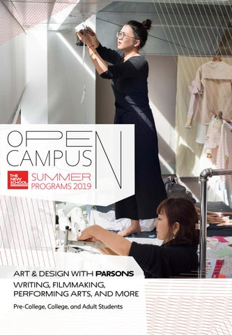 Open Campus Summer Brochure By The New School Issuu