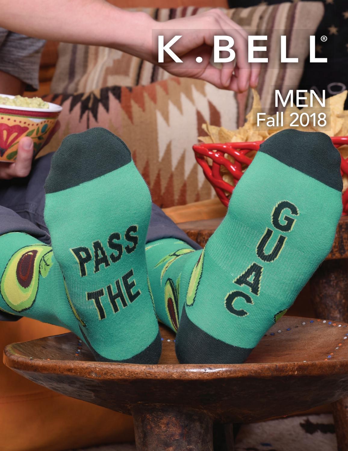 K.Bell Men/'s Black Pair Socks Smart Brainiac Guy Cotton Blend Socks New