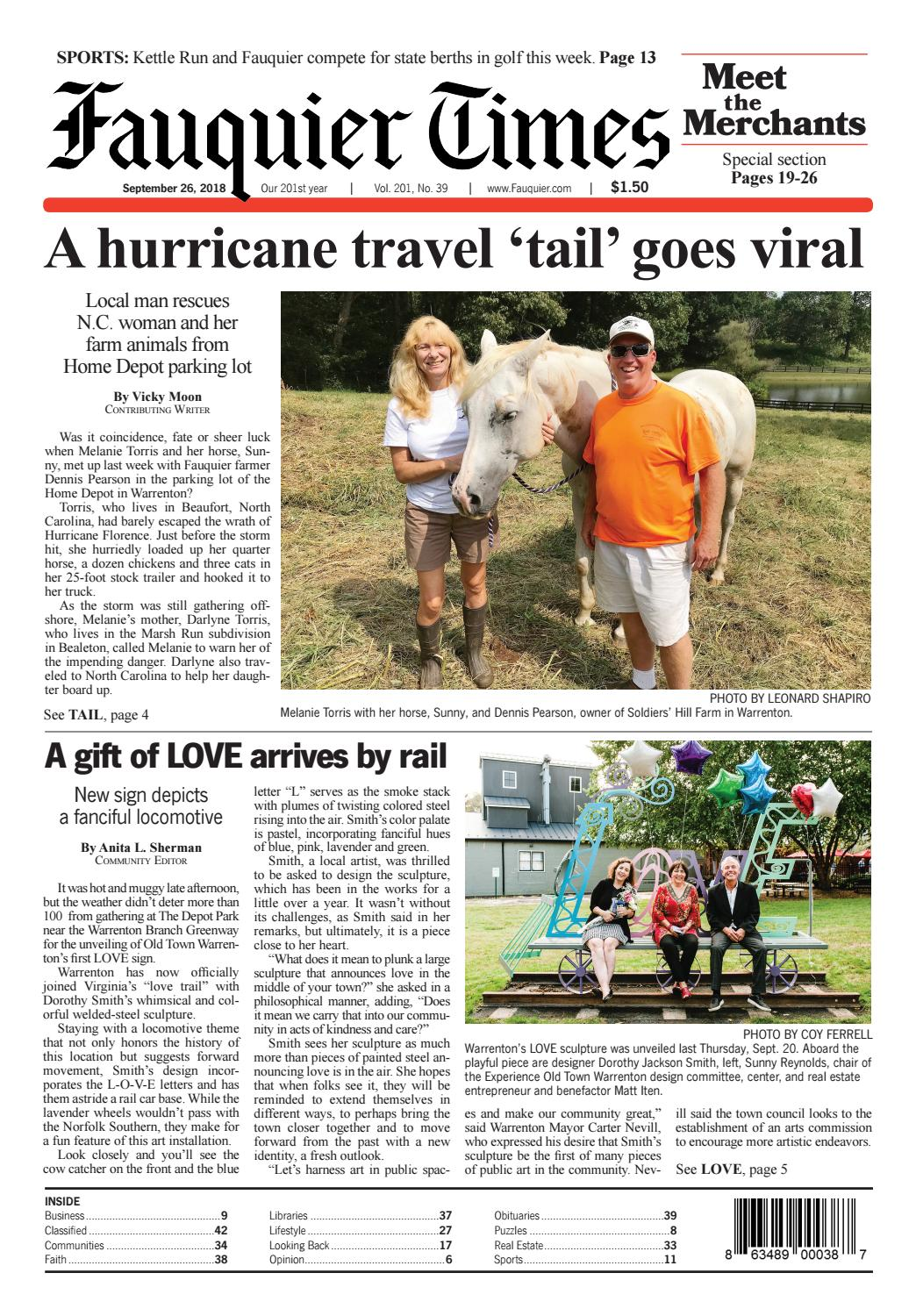 Fauquier Times September 26, 2018 by Fauquier Times - issuu