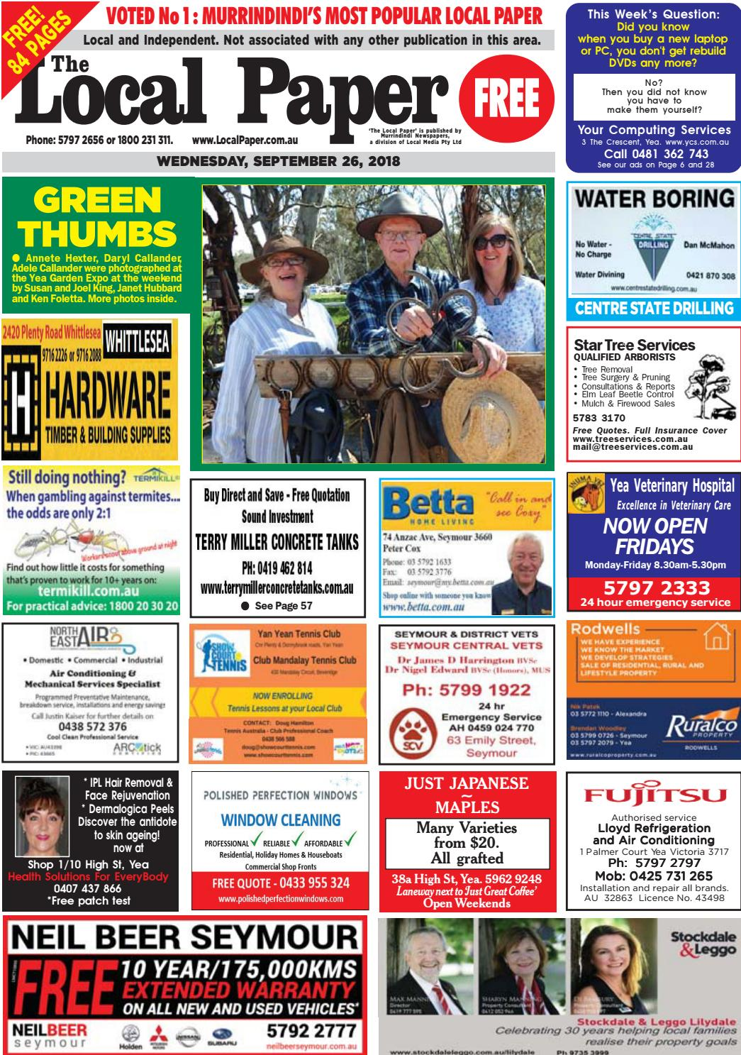 The Local Paper  September 26, 2018 by Ash Long - issuu