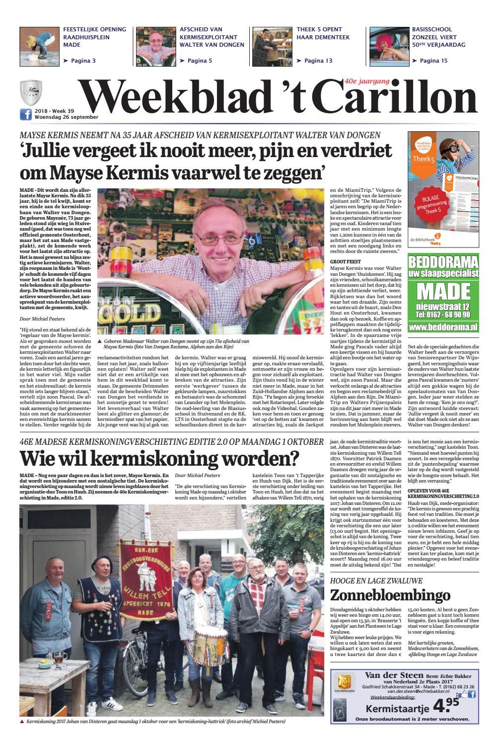 9ee66f85611f01 Weekblad  t Carillon 26-09-2018 by Uitgeverij Em de Jong - issuu
