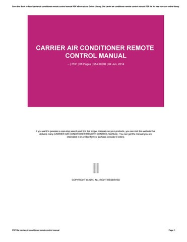 Array - carrier air conditioner remote control manual by andersonpatricia411      rh   issuu com