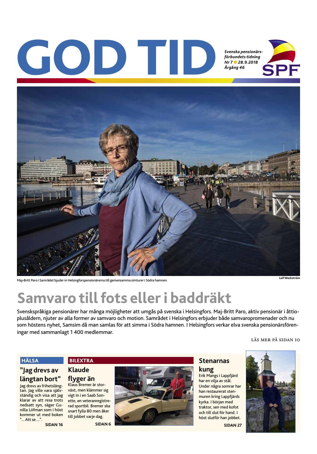 God Tid 7 2018 by Svenska pensionärsförbundet 6546514ad73d6