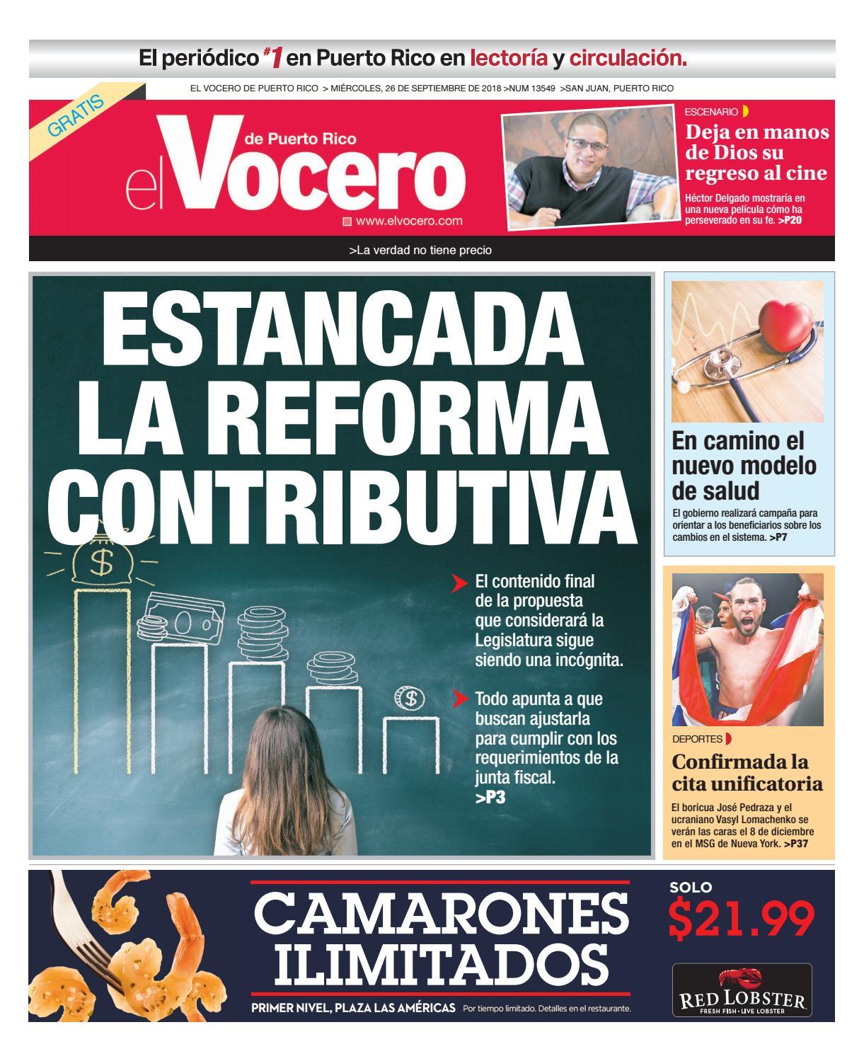 size 40 5cd8c 81540 Edición del 26 de septiembre de 2018 by El Vocero de Puerto Rico - issuu
