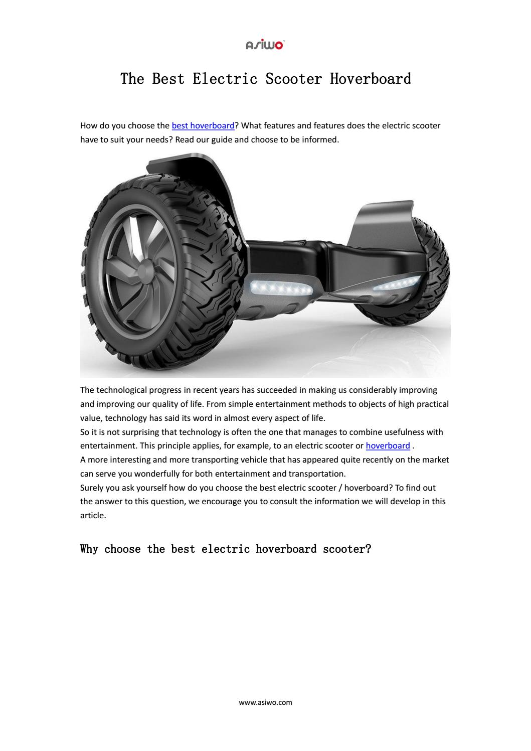 The Best Electric Scooter Hoverboard By Luna Leng Issuu