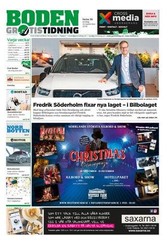 1b29f0aa660 Boden Gratistidning vecka 39, 2018 by Svenska Civildatalogerna AB ...