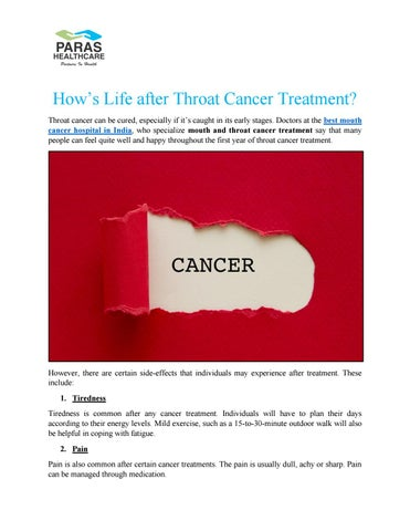 How's Life after Throat Cancer Treatment? by seoroshan1 - issuu