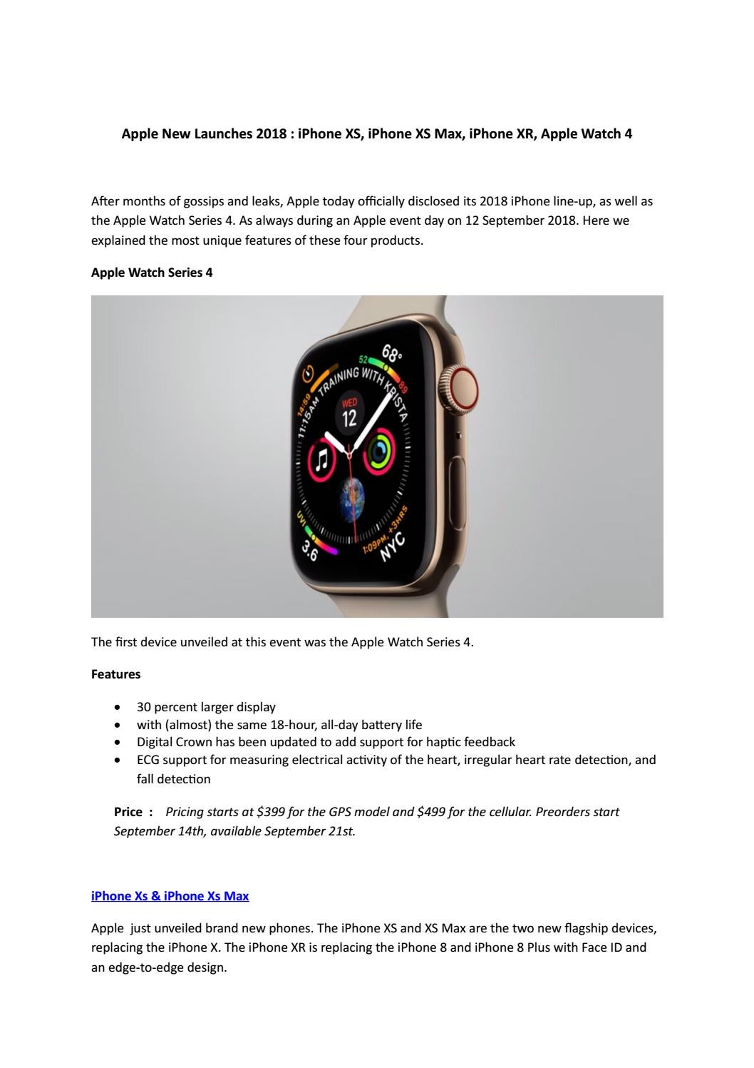 Apple New Launches 2018 by Jebelz UAE - issuu