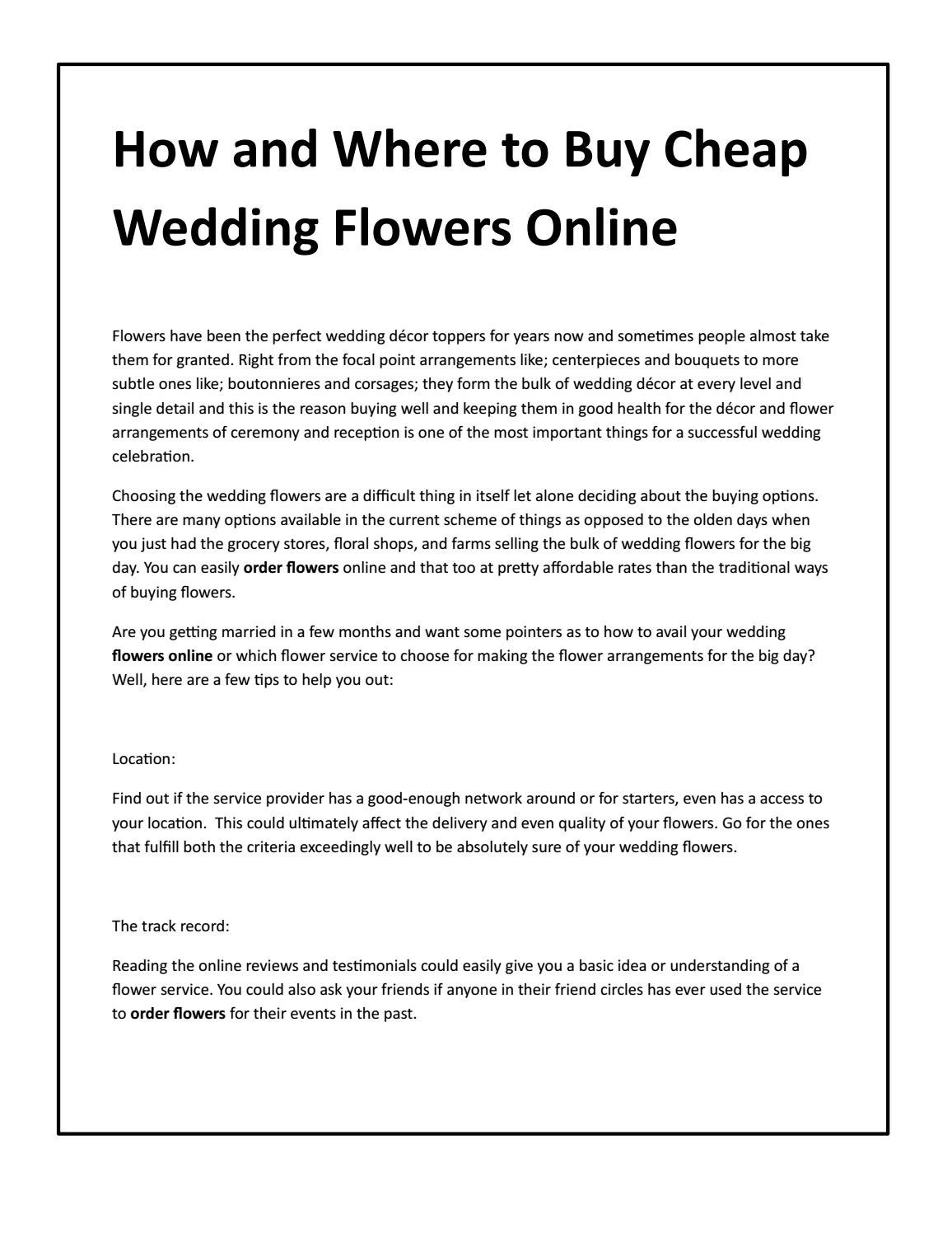 How and where to buy cheap wedding flowers online by whole blossoms how and where to buy cheap wedding flowers online by whole blossoms issuu izmirmasajfo