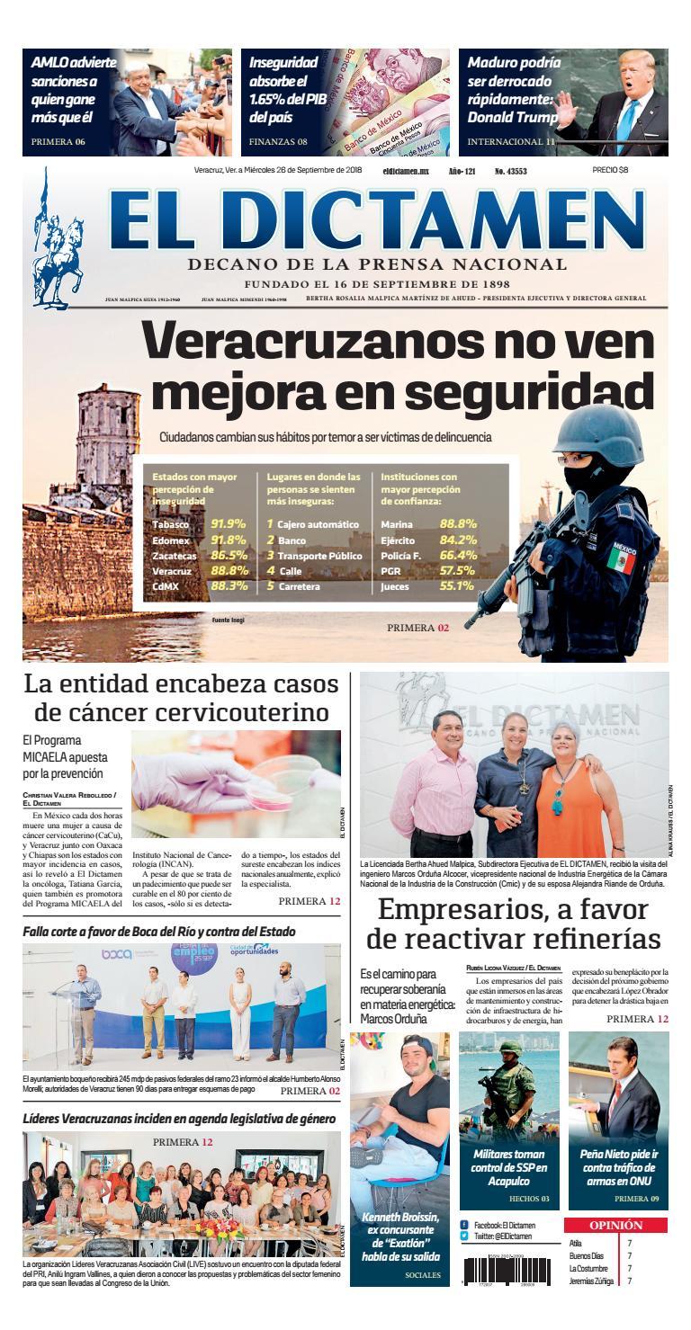 El Dictamen 26 de Septiembre 2018 by El Dictamen - issuu