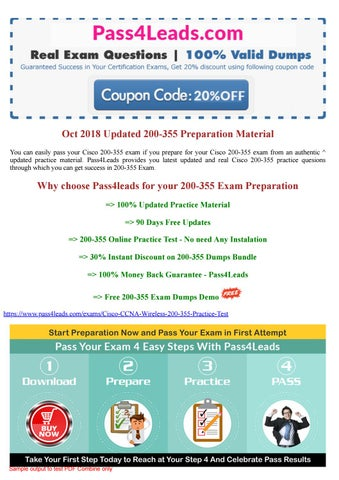 Cisco 200-355 Exam Questions PDF - 2018 Updated by passlead - issuu