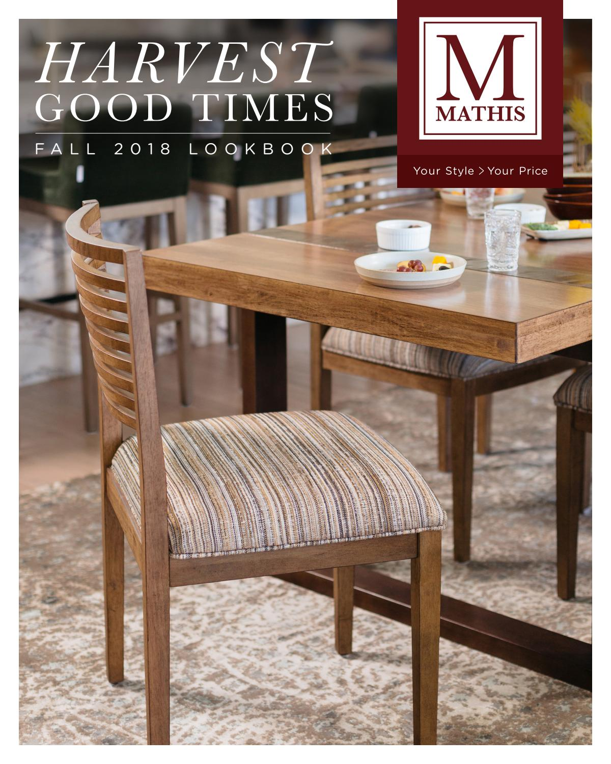 Astounding Mathis Brothers 2018 Fall Lookbook By Mathis Brothers Unemploymentrelief Wooden Chair Designs For Living Room Unemploymentrelieforg
