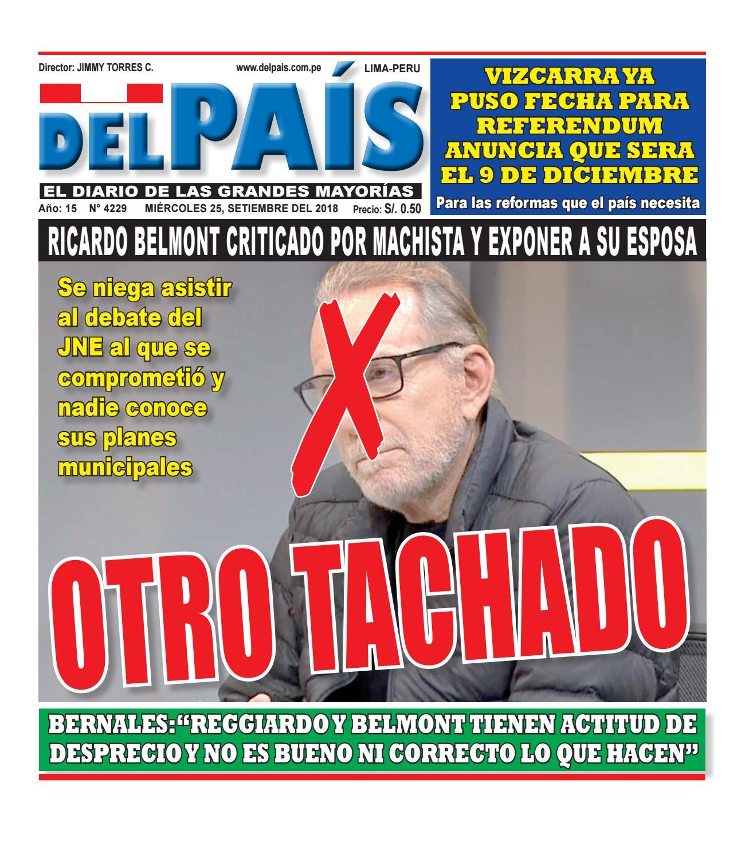 Edicion Impresa 26 de Setiembre del 2018 by Diario Del Pais