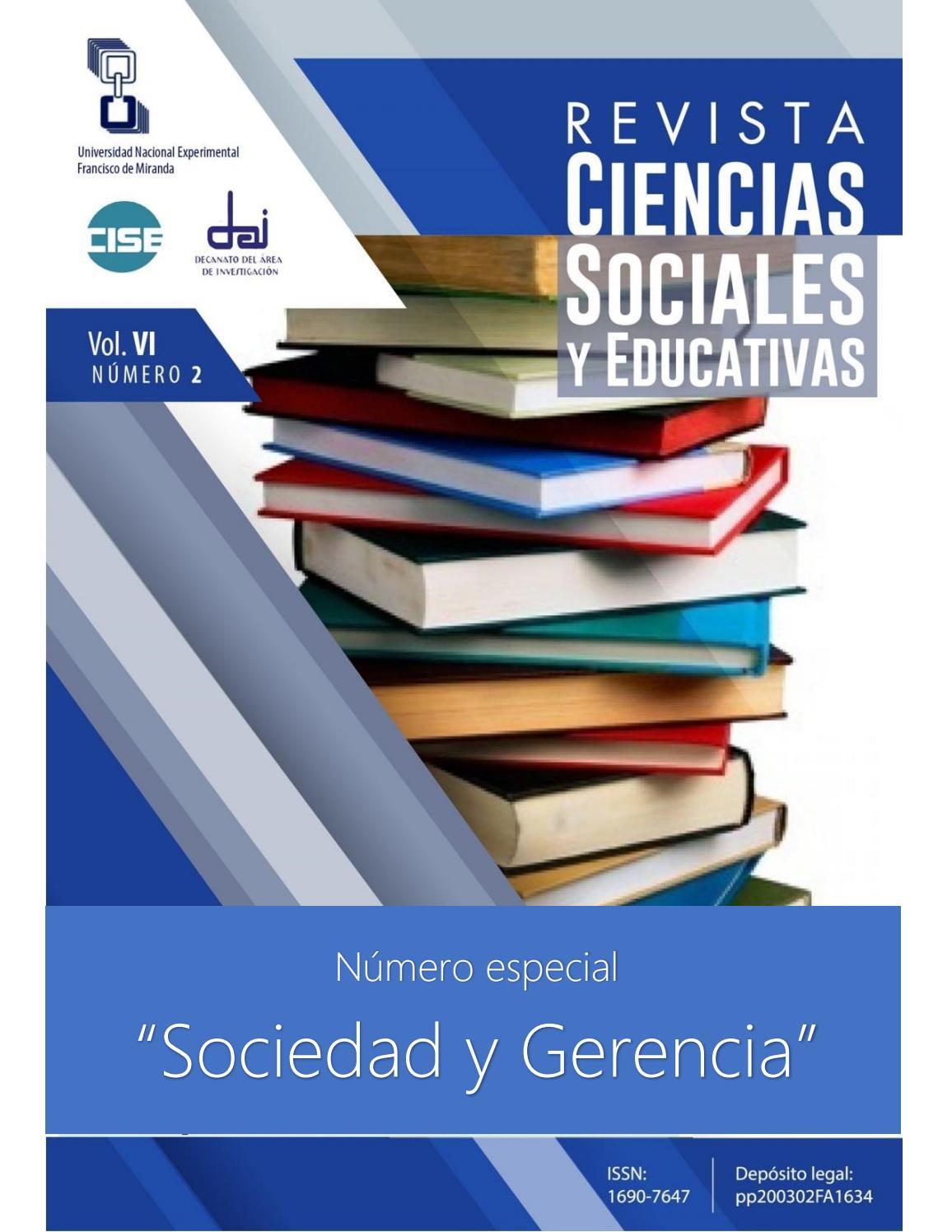 Rcse Vol Viii Nro 2 Especial Sociedad Y Gerencia By