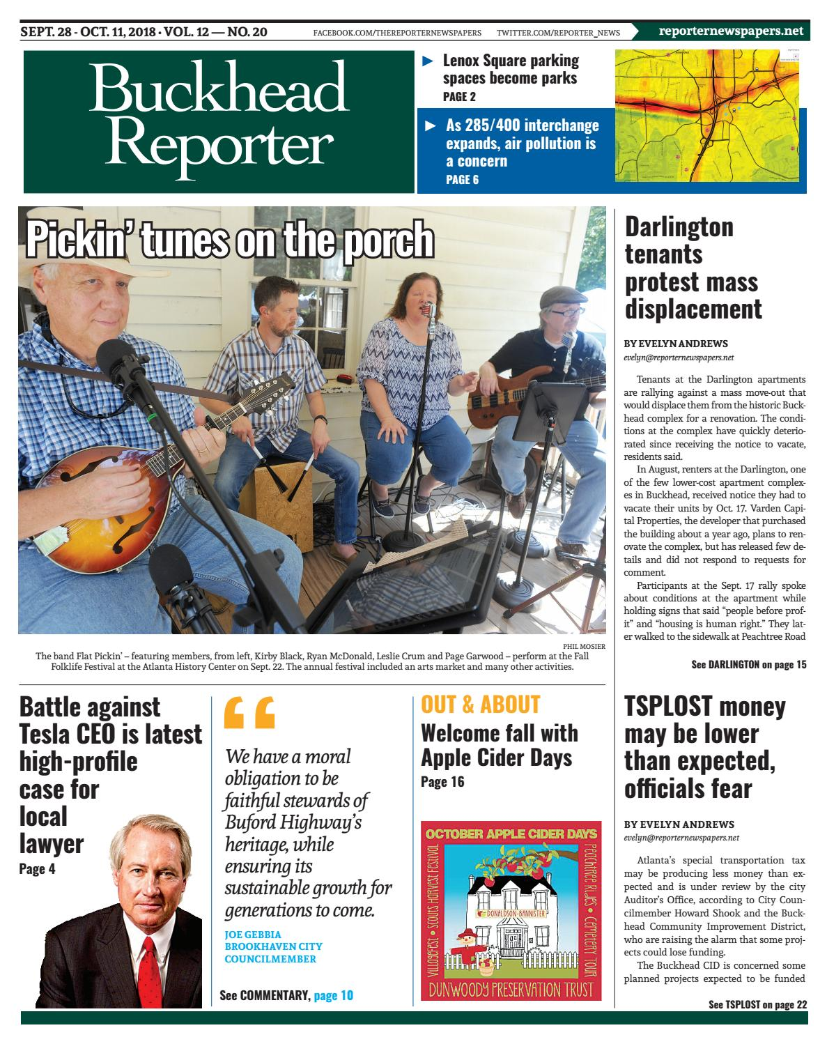 09-28-18 Buckhead Reporter by Reporter Newspapers - issuu