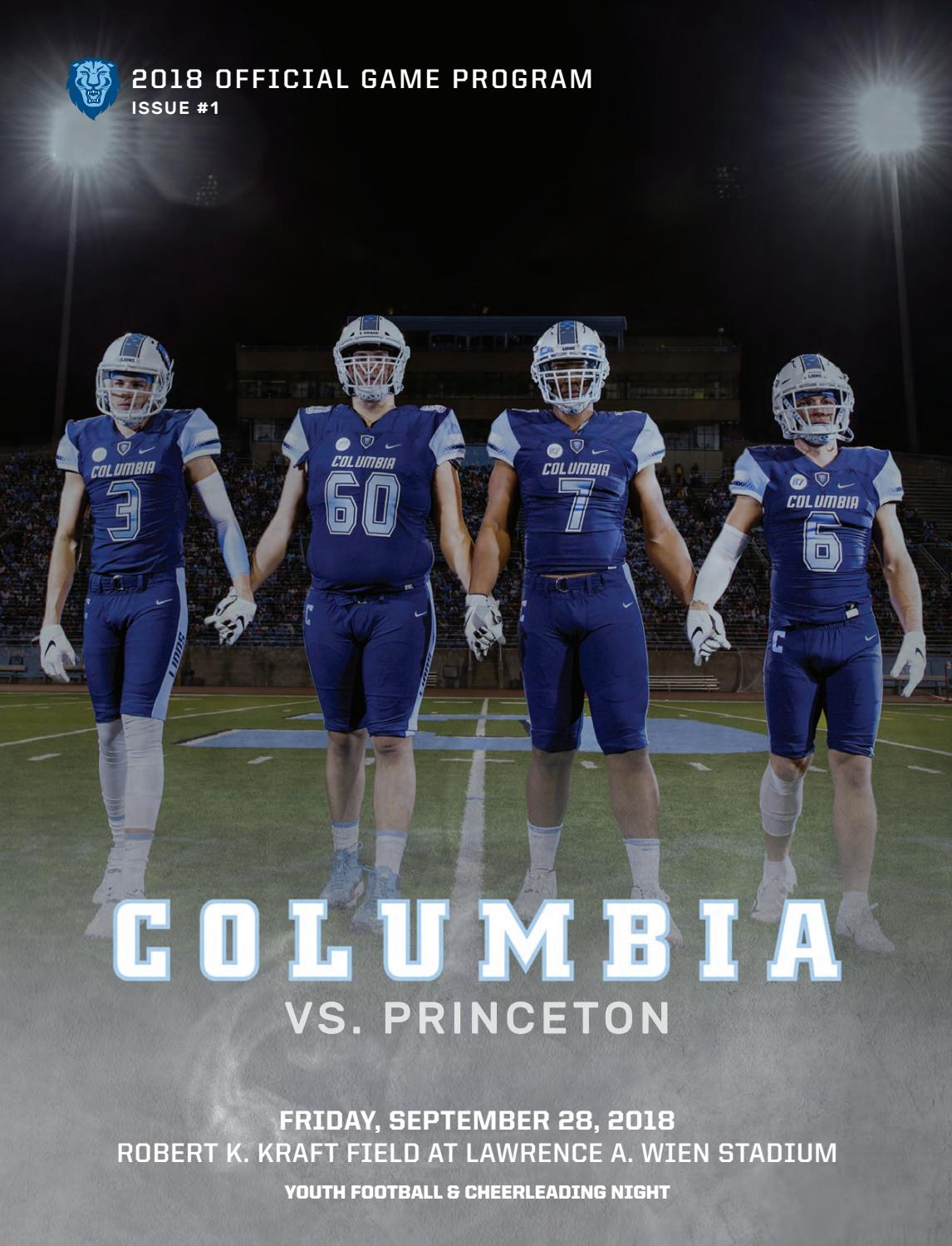 7cba5af6a Columbia Football Game Program (Sept. 28