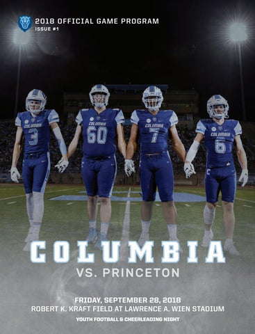 Discount Columbia Football Game Program (Sept. 28, 2018) by Columbia  for cheap