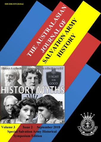 Australasian Journal Of Salvation Army History Volume 3 Issue 2 By