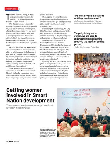 Page 22 of Getting women involved in Smart Nation development