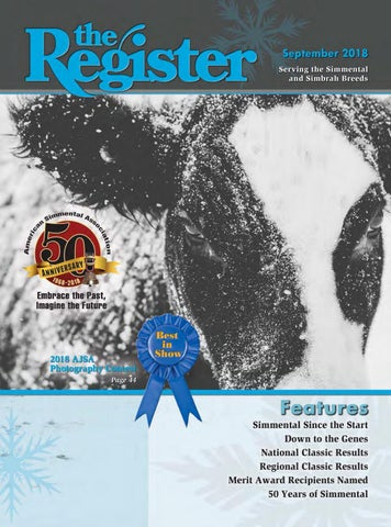 The Register September 2018 By American Simmental Publication Inc