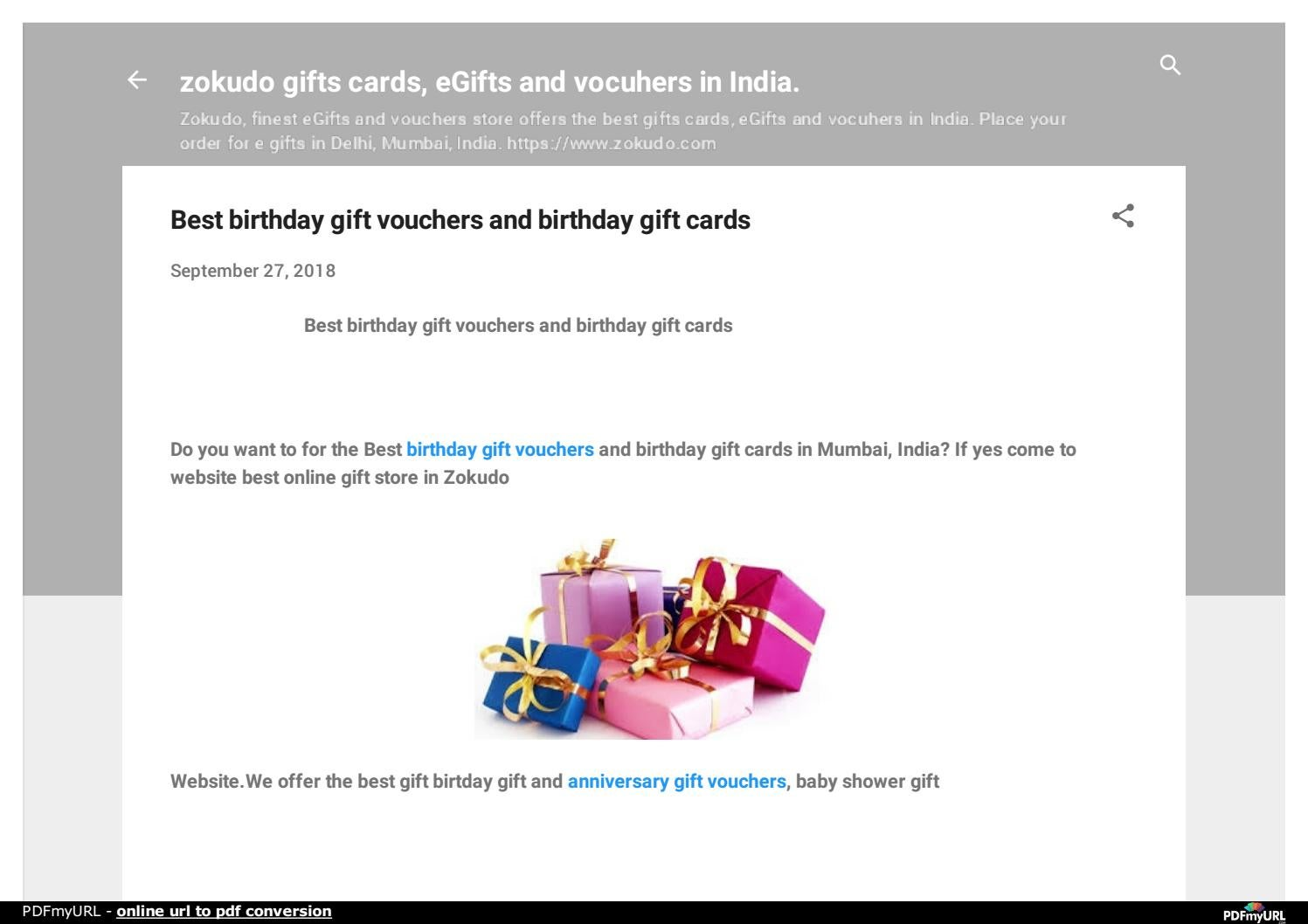 Best Birthday Gift Cards Online Store In Delhi MUMBAI