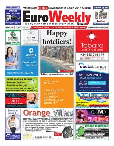 95d1445788c Euro Weekly News - Costa Blanca North 27 September - 3 October 2018 ...