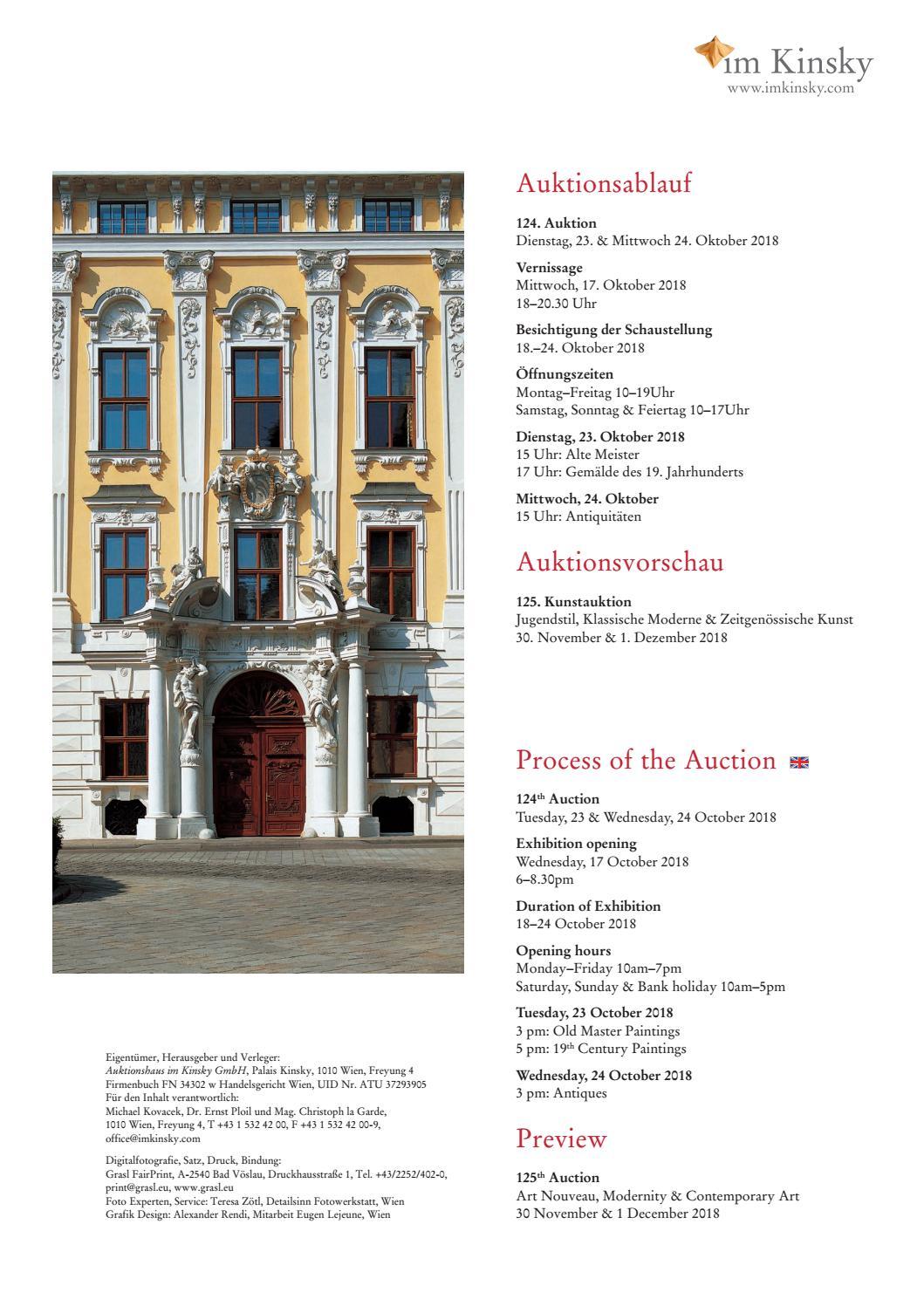 Im Kinsky 124. Auktion   Antiquitäten by Auktionshaus im