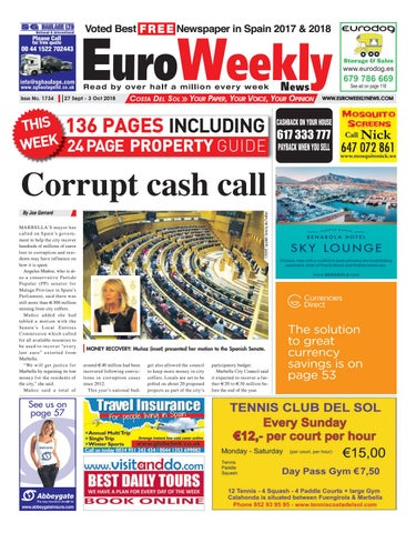 brand new 9eb68 905da Euro Weekly News - Costa del Sol 27 September - 3 October 2018 Issue 1734