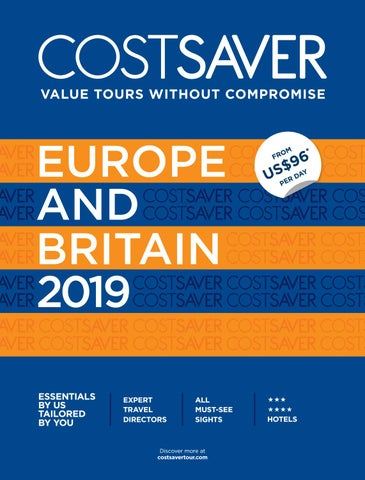 Costsaver Europe 2019 GSA by Trafalgar - issuu