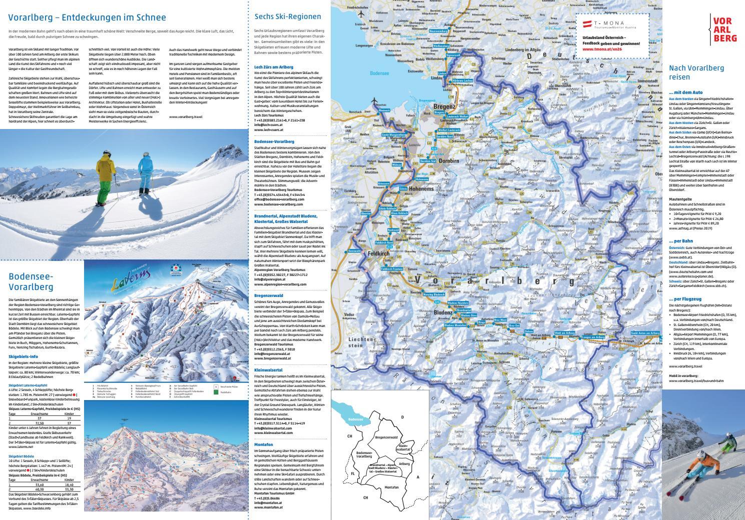Ski Regionen Vorarlberg 2018 19 De By Vorarlberg Tourismus Gmbh Issuu