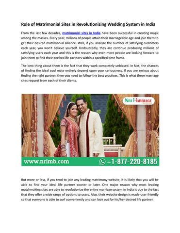 Matchmaking sites in India
