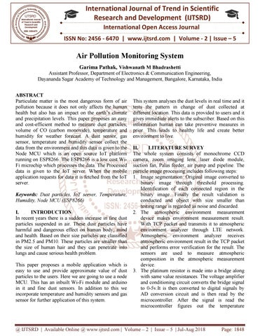 Air Pollution Monitoring System by International Journal of
