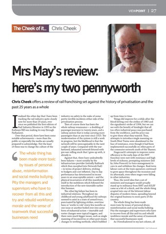 Page 27 of The Cheek of it... Mrs May's review: here's my two pennyworth
