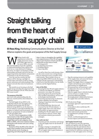 Page 31 of Straight talking from the heart of the rail supply chain