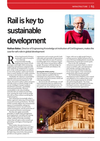 Page 65 of Infrastructure: Rail is key to sustainable development